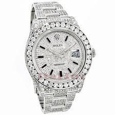 17 best ideas about mens watches rolex rolex rolex datejust mens custom diamond watch 25 20ct iced out