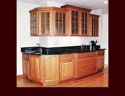 crown moulding custom oak kitchen raised panel door style multi level glass door upper cabinets
