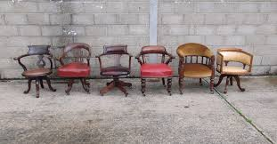 good selection of antique desk chairs