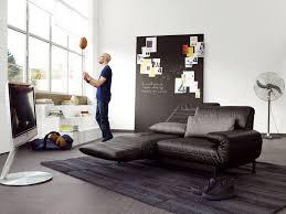 back in black rolf benz plura in black leather atelier plura sofa rolf benz