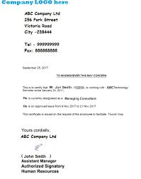 Sample Request Letter For Certificate Of Employment For