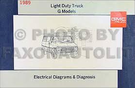 1989 gmc g van vandura wiring diagram manual original