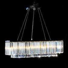 chrome prism drop rectangular cascade chandelier