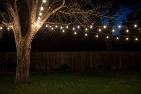home decoration lovely outdoor string light and hanging outdoor lights string for green field backyard