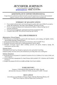 Resume Sample Work Experience