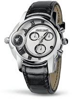 roberto cavalli watches for men shopstyle roberto cavalli caracter men s dual time chronograph watch silver