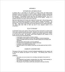 Sample Business Plan Outline A Business Plan Template Examples Business Plan Template Examples