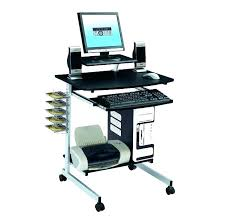 rolling printer cart under desk mobile computer laptop portable adjule stand table office