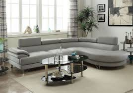 faux leather sectional. Image Is Loading Grey-Faux-Leather-Curved-Sectional-Sofa-Couch-Round- Faux Leather Sectional I