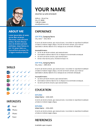 Resume Templates Word Free Download Amazing 60 Free Resume Templates [ PSD Word ] UTemplates