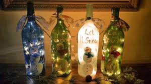 Decorative Wine Bottles With Lights Holiday Themed Bottles With Lights On Etsy How To Make A Bottle Lamp 11