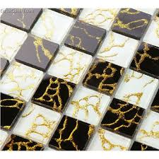 black and white home improvement glass mosaic tiles