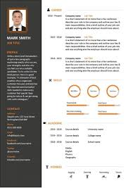 Modern Resume Samples Template Free Downloadable Cv Template ...