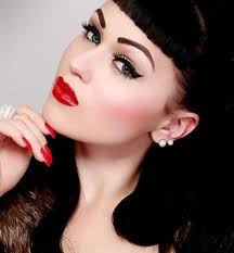 tutorial pin up carlyebeauty via 1950 39 s makeup a typical 1950s makeup historically accurate 1950s