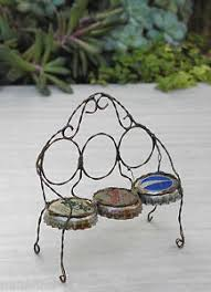 bottle cap furniture. Image Is Loading Miniature-Dollhouse-FAIRY-GARDEN-Furniture-Antiqued-Bottle- Cap- Bottle Cap Furniture N