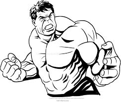 Disegno Di Hulk In Piano Medio Da Colorare
