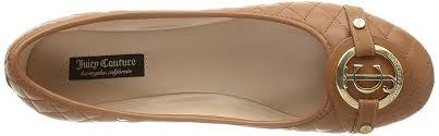 juicy couture theodora q women s shoes ballerina brown cognac leather ballet flats juicy couture hoos