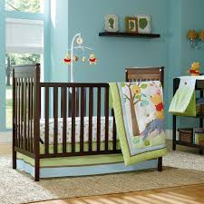 baby boy furniture nursery. unpretentious brown wooden furniture feats with light blue wall and wini the pooh baby boy nursery d