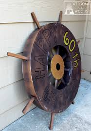 construct a pirate ship wheel out of cardboard would be a perfect