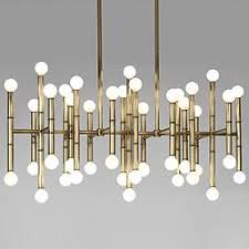 exposed lighting. meurice rectangular chandelier exposed lighting