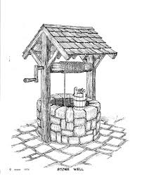 Water Well Design Drawing Pin On Pen And Ink Drawings