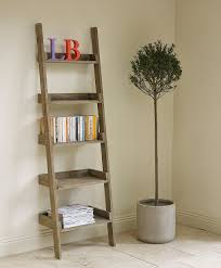 Diy Brown Wooden Small Ladder Shelf Five Levels