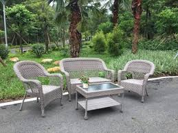 4 piece wicker seating patio set