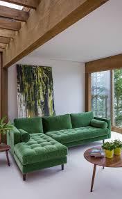 Grass Couch Velvet Mid Century Modern Sectional Upholstered Sven Mid Century