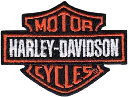 motor harley davidson cycles embroidered patch