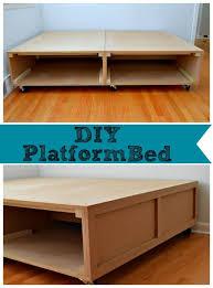 DIY Platform Bed with Storage Platform beds Wheels and Storage