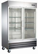 refrigerator glass front. two door glass front stainless steel commercial refrigerator - cfd-2rrg