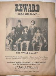 Set Of 5 Old West Wanted Posters Wild Bunch Butch Cassidy Sundance Kid Kid Curry Elzy Lay Old West Western Outlaw Cowboy