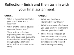 plan your week montuesdaywednesdaythursfriday dueshort story essay  3 reflection