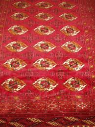 gul motif turkman rug with gul motif