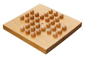 Wooden Peg Solitaire Game Wooden Peg Solitaire Board Or Brainvita Stock Photo Image of 2