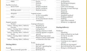 C Section Birth Plan Free Birth Plan Template Cesarean C Section Sample Printable