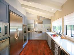 light filled contemporary kitchen area with modern appliances