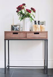 thin glass console table hallway entrance for behind small with drawers and furniture tables modern wood dark brown entry foyer bench front door hall