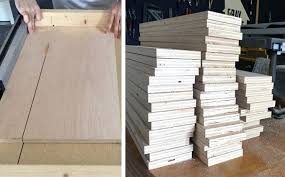 plywood shelves with an exposed edge thickness for closet shelving unit diy garage