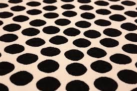 vintage scandinavian round verner panton black and white polka dot rug 49685 field nazmiyal