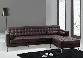 Furniture:Tufted Sofa With L Shape Has Dark Brown Tone With Italian Sofa  Style Class