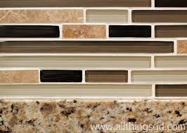 Kitchen With Glass Tile Backsplash Gorgeous Look How The Glass Tile Backsplash Contains All Of The Colors From