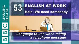 Telephone Message Taking Telephone Messages 53 English At Work Helps You Note It