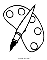 Paint Brush Coloring Page Coloring Home