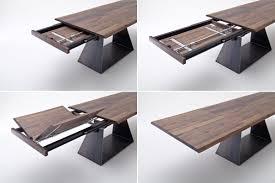 Tisch Esstisch Mit Verlängerung Auszug Nussbaum Massiv Rustikal