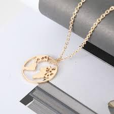 <b>Fashion</b> Jewelry Woman Necklace <b>Geometric World</b> Map Clavicle ...