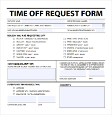 Time Off Request Form Pdf Sample Time Off Request Form 23 Download Free Documents