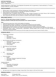 Web Application Engineer Sample Resume