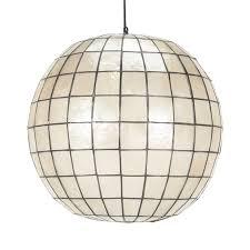 globe pendant lighting. Shell Globe Pendant Lighting
