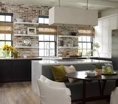 Exposed Brick Kitchen Featuring A Unique Decor In The Kitchen With Exposed Brick Wall